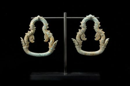 Pair of Gilt Bronze Palanguin Rings