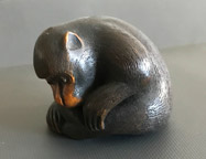 Netsuke of a monkey